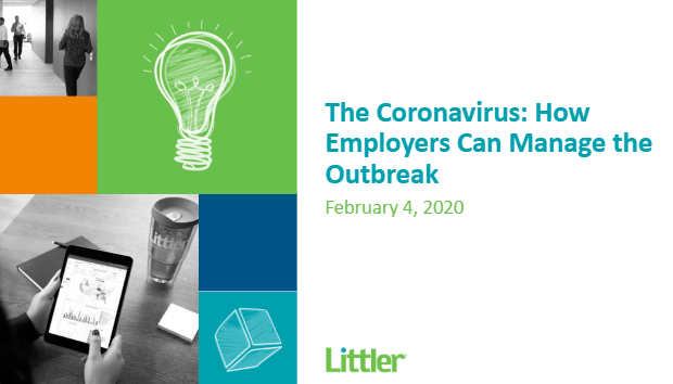 On-Demand Webinar - The Coronavirus: How Employers Can Manage the Outbreak