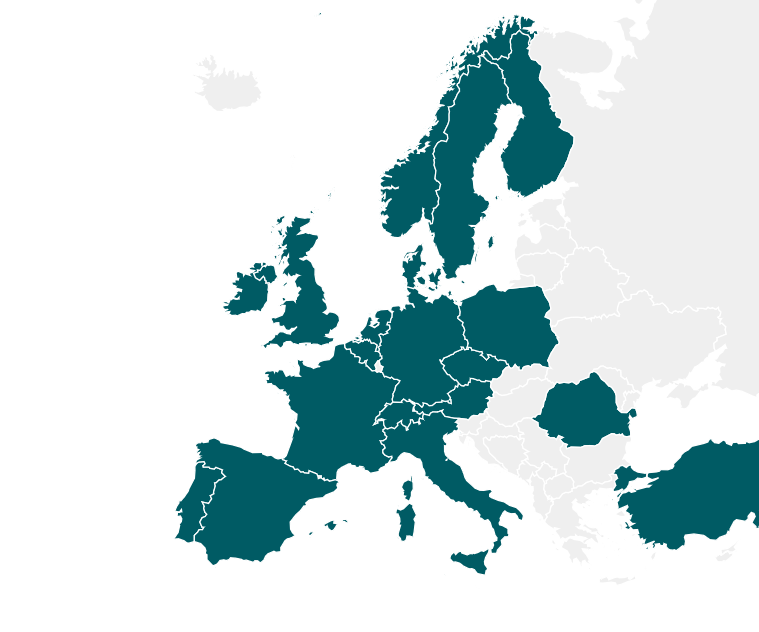 Interactive Map of Europe COVID-19 Guidance